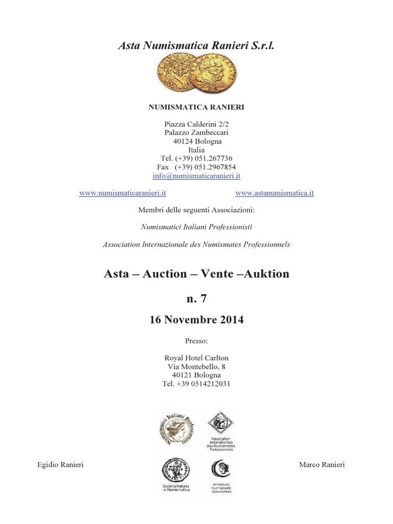 2e74547d21 Asta Numismatica n. 7 - Monete e Medaglie