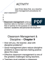 Classroom Management & Discipline - Chapter 9.ppt
