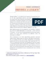 Lukacs Entrevistado Por Perry Anderson[1]