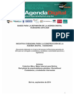 Bases para la definición de la Agenda Digital Ciudadana 2015-2020
