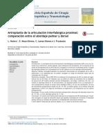 2014 Artroplastia de la articulación interfalángica proximal, comparación entre el abordaje palmar y dorsal.pdf