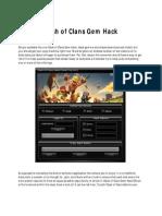 Clash of Clans Gem Hack