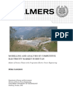 Modelling and Analysis of Competitive Electricity Market in Bhutan
