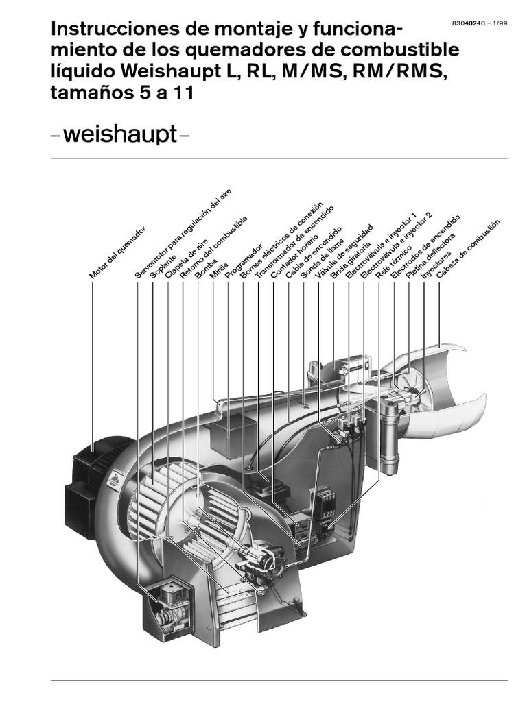 Manual de montaje y funcionamiento quemadores de