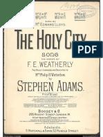 The Holy City - Adams
