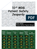 Patient Safety Jeopardy