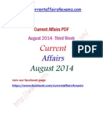 August 2014 Third Week Current Affairs