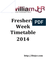 Updated Official Freshers Timetable
