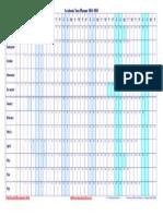 Academic Year Planner 2014 2015