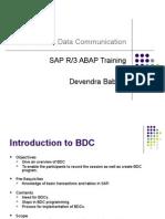 BDC û Batch Data Communication