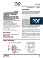 Nicd-Nimh battery charger data sheet