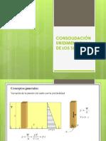 CONSOLIDACIÓN UNIDIMENSIONAL DE LOS SUELOS.pptx