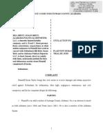 Taylor v. Britt Complaint Etowah County, Alabama Circuit Court
