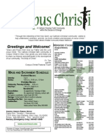 Corpus Christi Sunday Bulletin March 08-09, 2014