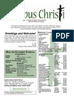 Corpus Christi Sunday Bulletin March 29-30, 2014