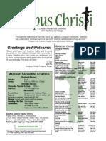 Corpus Christi Sunday Bulletin April 26-27, 2014