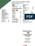 Seafood Mart Menu (1)
