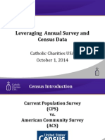 Leveraging Census Data and Cathoic Charities Annual Survey