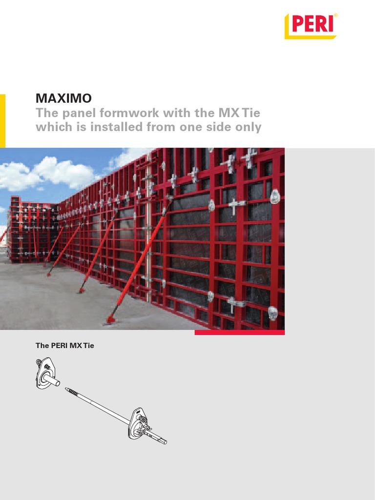 peri MAXIMO pdf | Scaffolding | Concrete