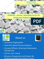 Levapor Carriers and their application for wastewater treatment