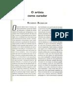 O Artista Como Curador- Ricardo Basbaum