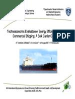 Technoeconomic Εvaluation of Energy Efficiency Retrofits in Commercial Shipping (presentation)