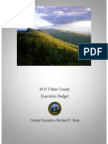 Ulster County Budget Proposal for 2015