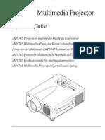 3M MP8745 Projector Manual