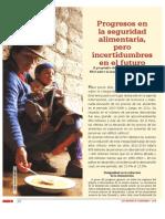 Progresos en la seguridad alimentaria, pero incertidumbres en el futuro.