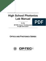 High School Photonics Lab Manual