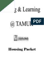 Www.tamuk.edu Housing Housing-files Housing Packet