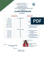 class program grade 1
