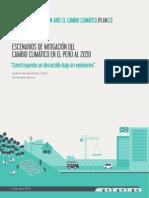 Escenarios de mitigación del Cambio Climático en el Perú al 2050
