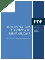 Estudio de Evaluación de Impacto Ambiental Plantación de Palma Africana