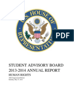 6.10.14 San Meteo Santa Clara County Student Advisory Board Report