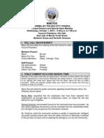 Special City Council Minutes 10-01-13