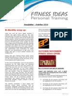 Fitness Ideas Newsletter - October 2014