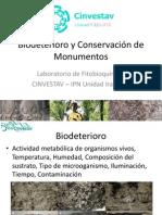 Biodeterioro y Conservación de Monumentos.pptx