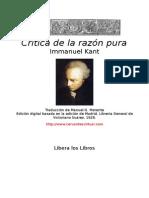 kant, Immanuel - Critica De La Razon Pura.doc