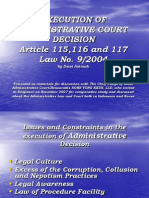 Execution of Administrative Decision