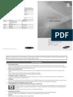 Samsung Plasma TV 5 Series Manual