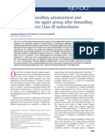 The effect of maxillary advancement and impaction on the upper airway after bimaxillary surgery to correct Class III malocclusion