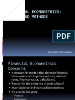 Financial Econometrics Introduction