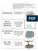 weathering erosion and deposition science unit flashcards