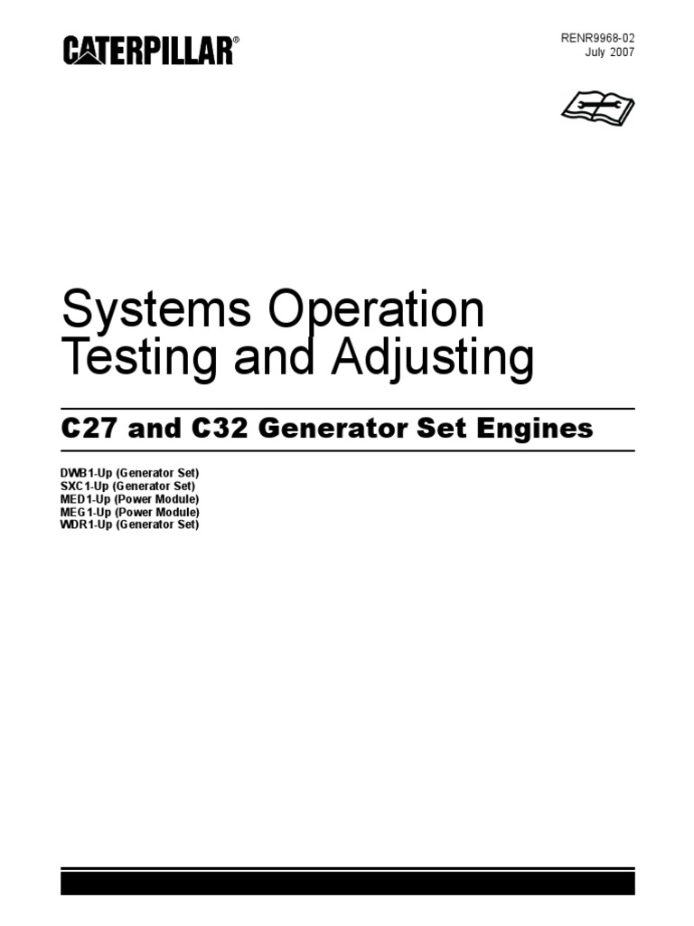 C27 and C32 Generator Set Engines _ Systems Operation _ Testing and  Adjusting _ RENR9968-02 _ July 2007 _ CATERPILLAR.pdf | Turbocharger |  Internal ...