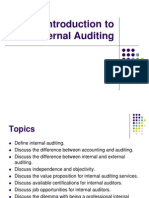 Introduction to Internal Auditing