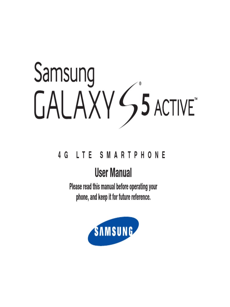 Samsung Galaxy S5 Active SM-G870 SM-G870A User Manual