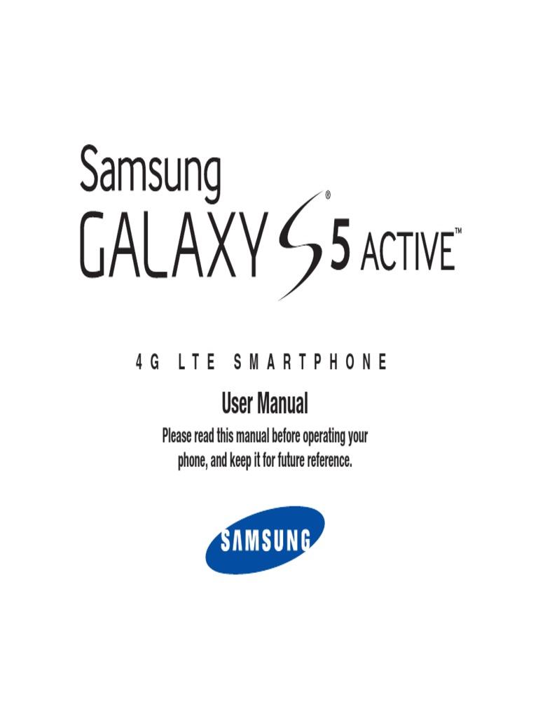 Samsung Galaxy S5 Active SM-G870 SM-G870A User Manual