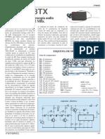 Transmisor Microespia Audio en 433,92Mhz