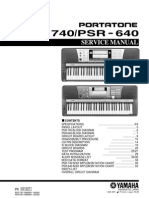 Yamaha Psr 640 Psr 740